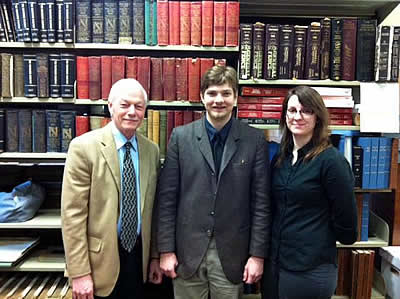 Paul R. Campbell, City Archivist; Caleb T. Horton, Deputy Archivist; Britni Gorman, Reference Archivist